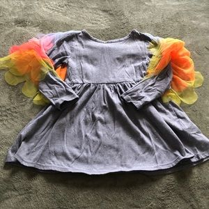 Cat & Jack Toddler Girls 3T bird dress EUC